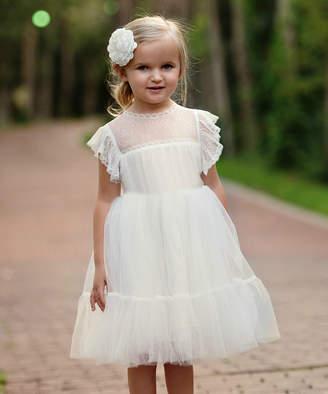 Off-White Think Pink Bows Girls' Special Occasion Dresses Off Paris A-Line Dress - Toddler & Girls