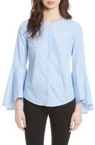 Milly Women's Michelle Stripe Bell Sleeve Blouse