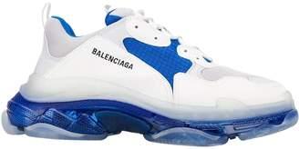 Balenciaga triple s clear sole low top sneaker white/blue/grey