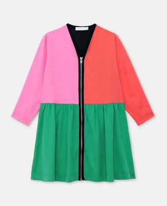 Stella McCartney Kids colour-block tencel dress