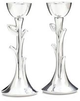 Nambe Tree Of Life Sabbath Candlesticks/Set of 2