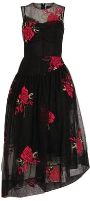 Simone Rocha Embroidered Asymmetric Midi Dress