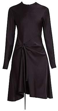 Chloé Women's Knot Detail Long Sleeve A-Line Dress
