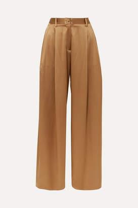 Nili Lotan Brixton Silk-satin Wide-leg Pants - US2