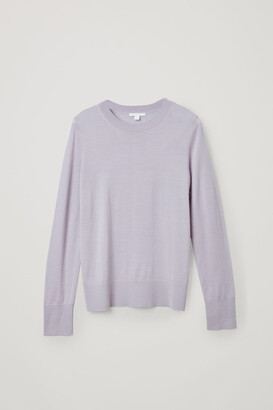 Cos Merino Wool V-Neck Jumper