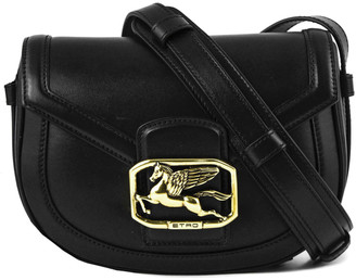 Etro Pegaso Bag In Black Leather