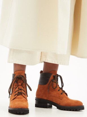 Fabrizio Viti Dolomite Lace-up Suede Ankle Boots - Tan