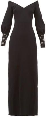 Maria Lucia Hohan Elsie Crystal-cuff Stretch-knit Dress - Black
