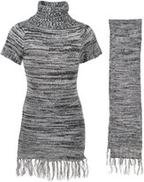 "Dollhouse Big Girls' ""Grayson"" Sweater Dress with Scarf - , 10-12"