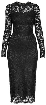 Dolce & Gabbana Long-Sleeve Lace Dress