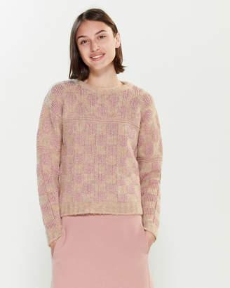 Roberto Collina Checker Dot Long Sleeve Sweater
