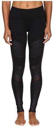 Alo Moto Leggings (Black) Women's Casual Pants