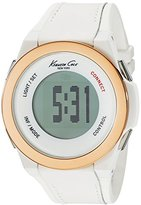 Kenneth Cole New York Unisex 10023871 KC Connect- Technology Digital Display Japanese Quartz WhiteWatch