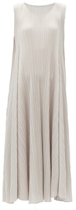 Pleats Please Issey Miyake Technical-pleated Dress - Light Grey