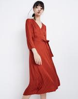 Madewell Satin Robe Wrap Dress