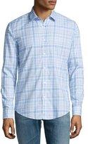 HUGO BOSS Plaid Long-Sleeve Sport Shirt, Blue