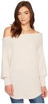Culture Phit Lottie Long Sleeve Off the Shoulder Waffle Top Women's T Shirt