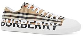 Burberry Men's Larkhall Logo Check Low-Top Sneakers