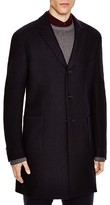 Z Zegna Felted Wool Jersey Slim Fit Topcoat