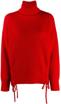 P.A.R.O.S.H. Ribbed Knit Roll-Neck Jumper