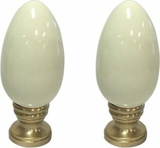 Royal Designs Ceramic Egg Shaped Lamp Finial Royal Designs