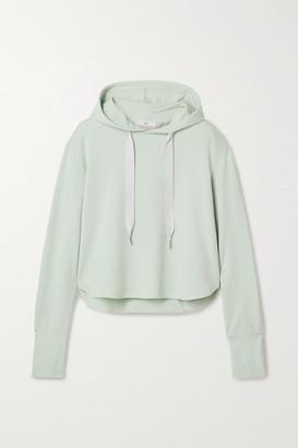 Heroine Sport Stretch Cotton-blend Jersey Hoodie - Light green