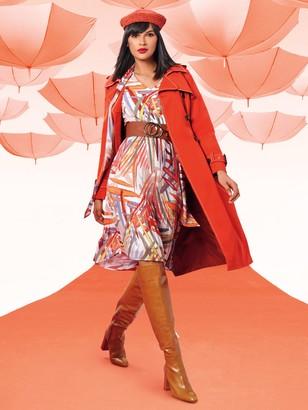 New York & Co. Balloon-Sleeve Pleated Dress