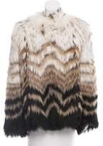 Theory Chevron Fur Jacket