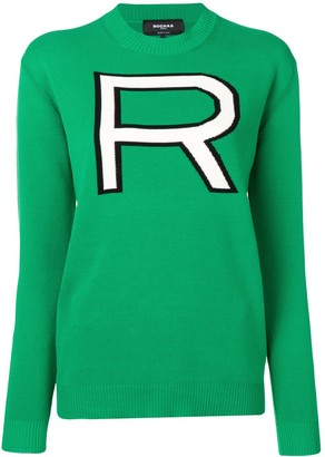 Rochas oversize R sweater