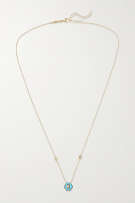 Jacquie Aiche 14-karat Gold, Turquoise And Diamond Necklace - one size