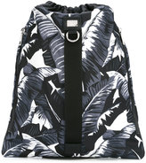 Dolce & Gabbana tropical leaf drawstring backpack - men - nylon 12 - One Size
