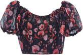 Giambattista Valli Silk Off-The-Shoulder Top