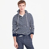 J.Crew Fleece henley hoodie in nautical stripe