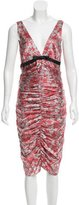 Miguelina Ruched Silk Dress