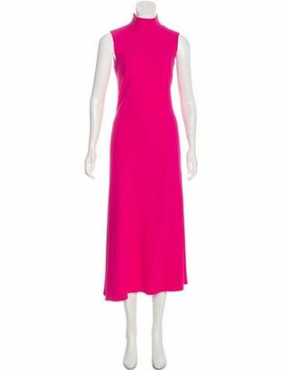KHAITE Flare Maxi Dress Fuchsia