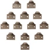 Rejuvenation Set of 12 Cast Iron Finger Lifts in Windsor Pattern c1880s