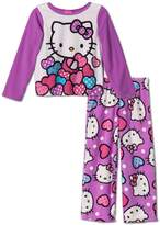 Hello Kitty Hearts Toddler Girls Fleece Pajama Set