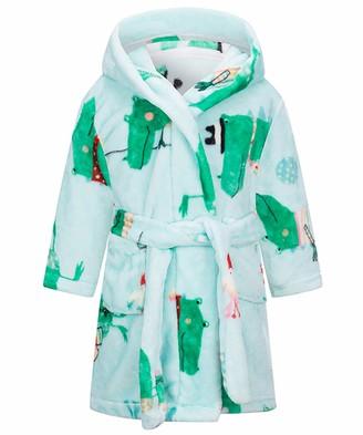 Happy Cherry Baby Boy Girl Fleece Bathrobe Winter Fleece Dressing Gown Hooded Kids Hooded Towels for Kids Winte Towelling Robe Kids 6-7 Years Dark Blue