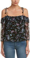 Ella Moss Silk Cold-Shoulder Top