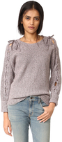 Rebecca Minkoff Malcom Lace Up Sweater