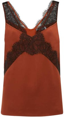 Mint Velvet Rust & Black Lace Strap Cami