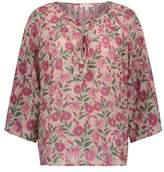 Louise Misha Matangi Floral Lurex Blouse - Women's Collection
