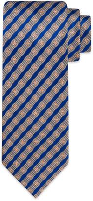Stefano Ricci Men's Luxury Link-Stripe Printed Silk Tie