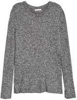 H&M Ribbed Sweater - Light pink melange - Ladies