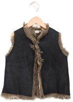 Bonpoint Girls' Shearling Vest
