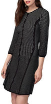 Rachel Roy Jacquard Mesh Sweater Dress