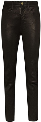Frame Mid-Rise Slim-Fit Trousers