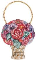 Judith Leiber 'Flower Basket' crystal pavé minaudière