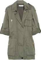 Cotton and linen-blend army jacket