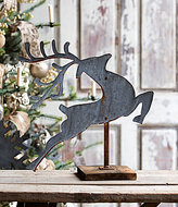 Park Hill Tin Leaping Deer Figurine